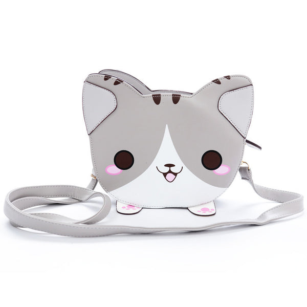 Kawaii Smiling Kitty Shoulder Bag HF00675