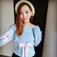 Cute Ribbon Sweaters (various colors) HF00493