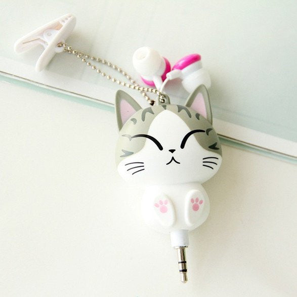 Cute Cartoon Kitty Cat Earphones HF00351