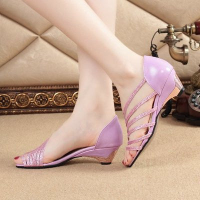 Low-heeled Fish Head Shoes (various colors) HF00645