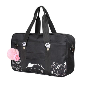 Kawaii Kitty Print Shoulder Bag HF00224