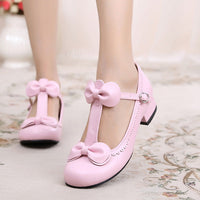 Lolita Double Bow Low-heeled Shoes HF00911