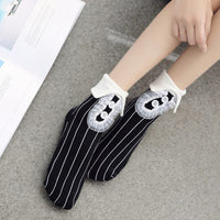 Folded Cute Harajuku Cotton Socks (various colors) HF00903