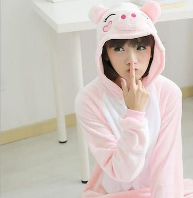 Cute Pink Pig Cartoon Onesie HF00309