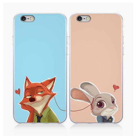 [Zootopia] Fox Nick and Bunny Judy Hopps iPhone Phone Case Ver.2 HF00453