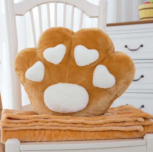 Cute Kitty Claw Pillow and Blanket Set (various colors) HF00444
