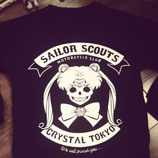 [Sailor Moon] Skeleton Sailor Scouts Crystal Tokyo Sweater HF00190