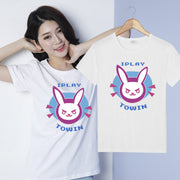 [Overwatch] D.VA DVA White and Black Bunny T-shirt HF00561