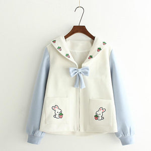 Cute Bunny Strawberry Jacket HF00144