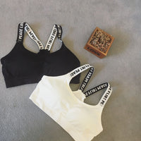 Slim Short Chest Top (black and white) HF00502