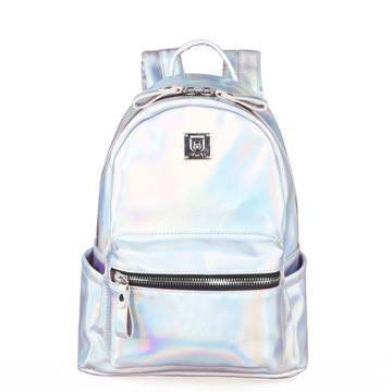 Laser Backpack Bag (silver and purple) HF00835