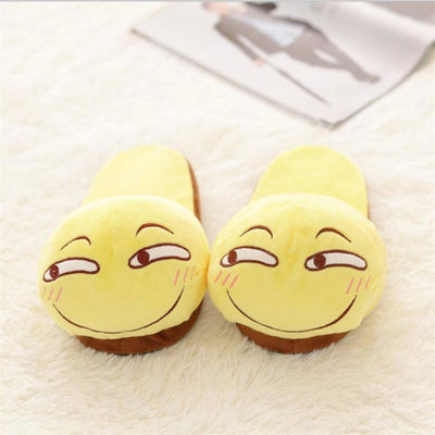 Funny Emoticon Open Slippers HF00790