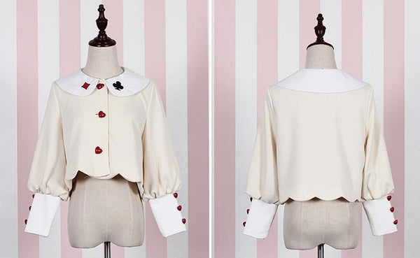 Playing Card Pattern Blouses and Skirt Set (various colors) HF00038