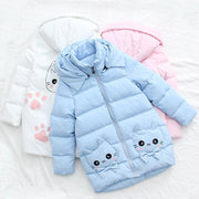 Korean Style Kawaii Kitty Winter Coat HF00022