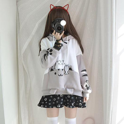 [Neko Atsume] Kawaii Kitty Hoodie HF00155