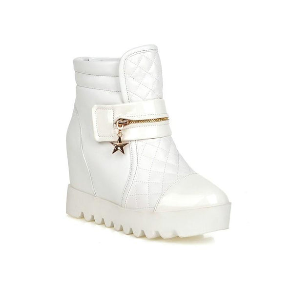 European Rockstar Martin Boots (white and black) HF00060