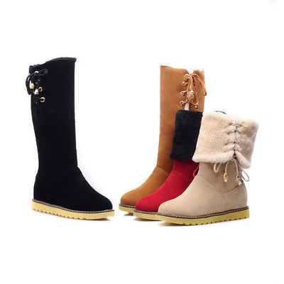 Korean Winter Fur Boots (various colors) HF00923