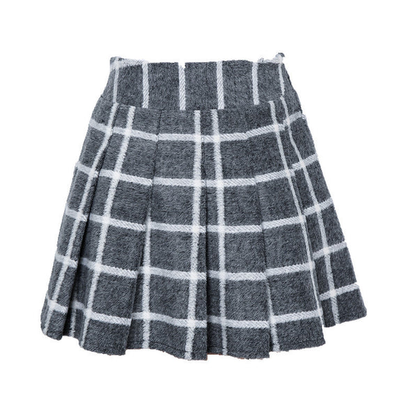 Thick Short Striped Pleated Skirt HF00926