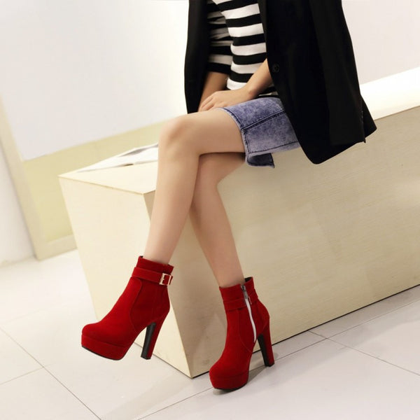 High-Heeled Zipper Shoes (various colors) HF00504