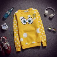[Spongebob] Cute Eyes Printed Sweater HF00279