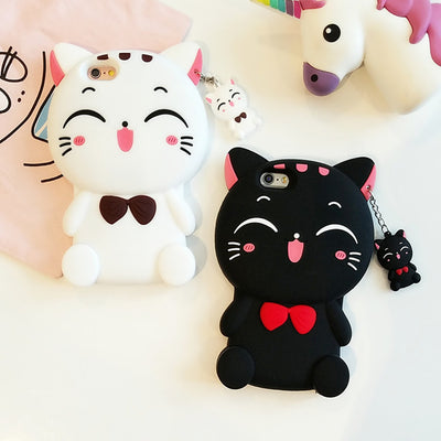 Cute Lucky Kitty Cat iPhone Phone Case HF00757