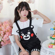 [Kumamon] Cute Bear Jumpsuit HF00196