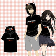 [Kumamon] Black Cartoon Hoodie T-shirt F00969