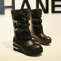 Eskimo Style Snow Boots (white and black) HF00346
