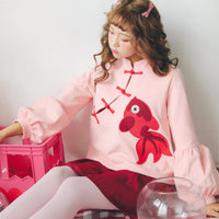 [Pinky Fashion] Lovely Redfish Sweater HF01024