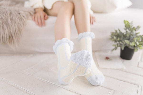 Pastel Vertical Striped Thick Socks (various colors) HF00902