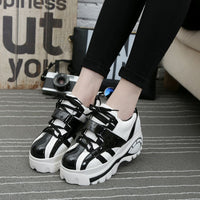 Korean Student Platform Shoes (pink and black) HF00438