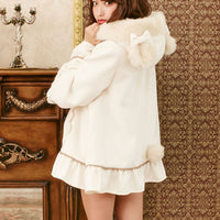 Cute Bear Lolita Loose Ruffle Coat HF00028