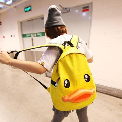Cute Duck Face Backpack Bag HF00277