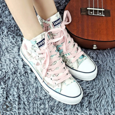 Paris Prints Canvas Shoes Ver.1 HF00354