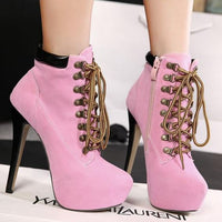 Retro High-heeled Ankle Boots (various colors) HF00904