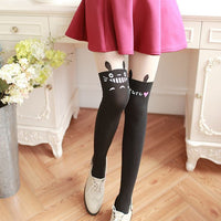 [Totoro] Black Heart Tights HF00263