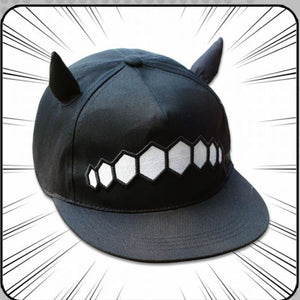 Horned Cartoon Black Cap HF00599