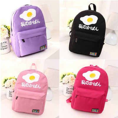Poached Egg Japanese Letters Backpack (various colors) HF00213