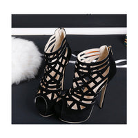 Summer Ultra High-heeled Leather Shoes HF00514