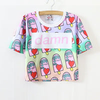 Icecream Damn Printed T-Shirt HF00117