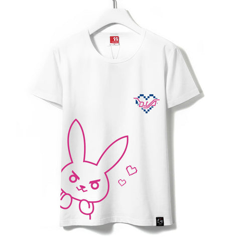 [Overwatch] D.VA Printed White T-shirt HF00564