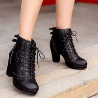 Ladies High-heeled Martin Boots (various colors) HF00890