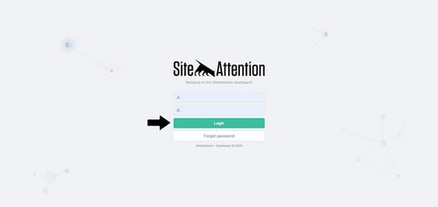 Log in to SiteAttention Dashboard
