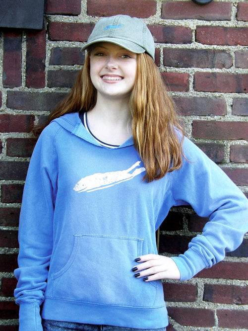 Long Island Hoodie - Love The Island Ladies Cutaway Hoodie - Violet Blue