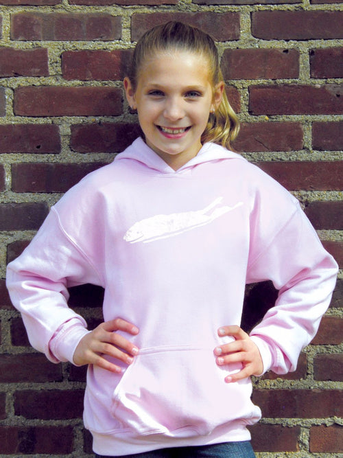 Long Island Hoodie - Love The Island Youth Classic Comfort Hoodie - Girls Light Pink