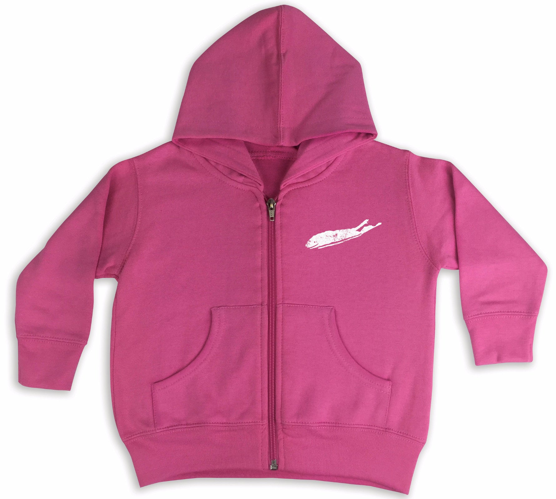 Long Island Hoodie - Love The Island - Toddler Girls Zip Hoodie Raspberry