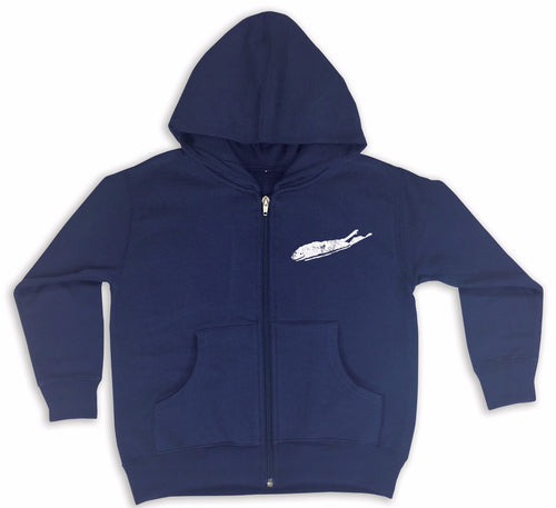 Long Island Hoodie - Love The Island Toddler Front Zip Hoodie - Navy Blue