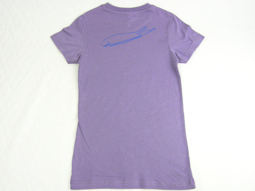 Girls T-Shirt: Fine Jersey - Lavender - Love The Island
