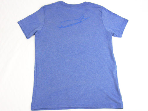 Boys T-Shirt: Short Sleeve - Blue Tri-blend - Love The Island