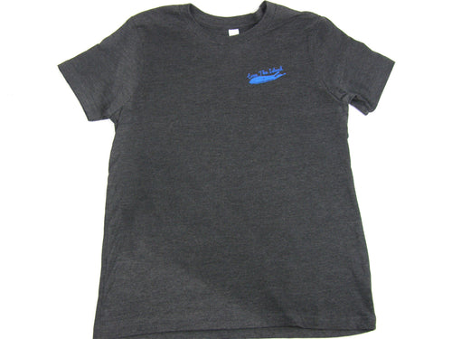 Boys T-Shirt: Short Sleeve - Dark Grey Heather - Love The Island